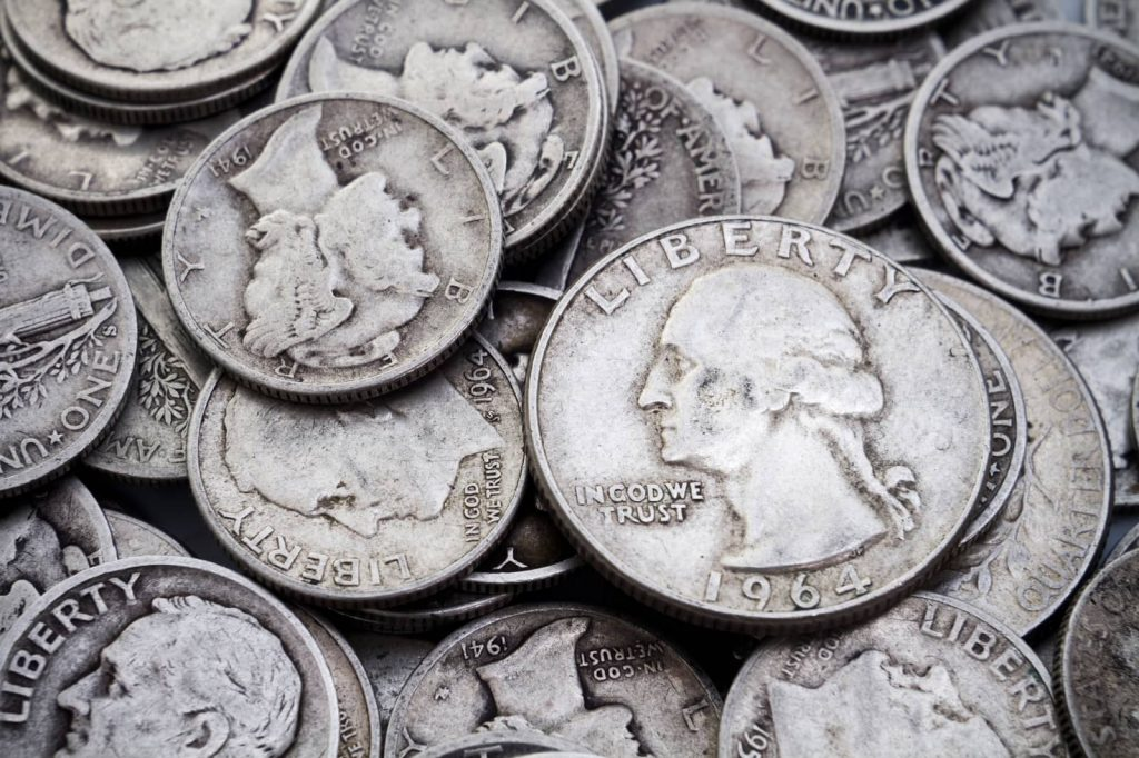 pre-64 US coins