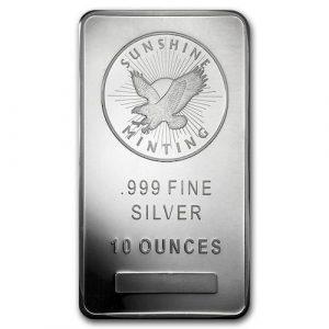 Sunshine 10oz silver bar